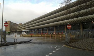 Repair work is still ongoing at Preston Bus Station after the December storms