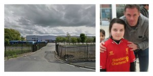 The site in Fishwick where Jamie Carragher's football academy may open