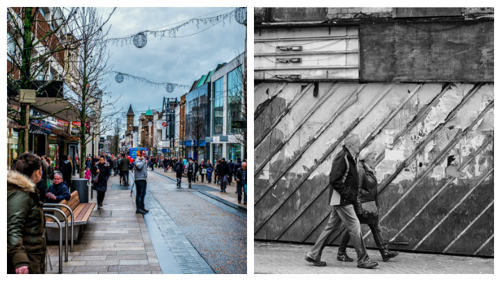 Fishergate and Church Street side-by-side