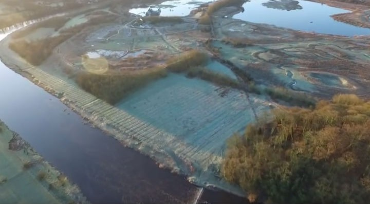 Brockholes and the River Ribble covered in thick frost Pic: Stephen Melling