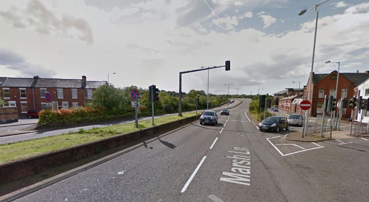The junction of Guild Way and Marsh Lane where the incident took place Pic: Google