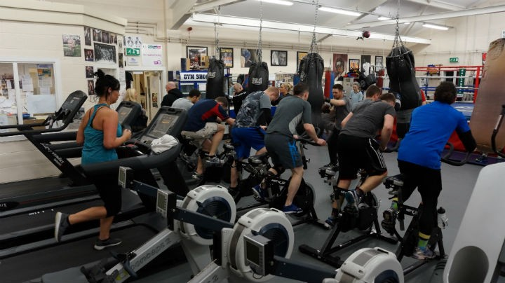 A busy gym session in Larches