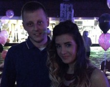 Liam Hewiston and his girlfriend Jessica Hill