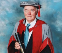 Sir Fancis Kennedy receiving an honorary doctorate in 2002