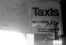 Taxi sign at Preston Bus Station Pic: Tony Worrall
