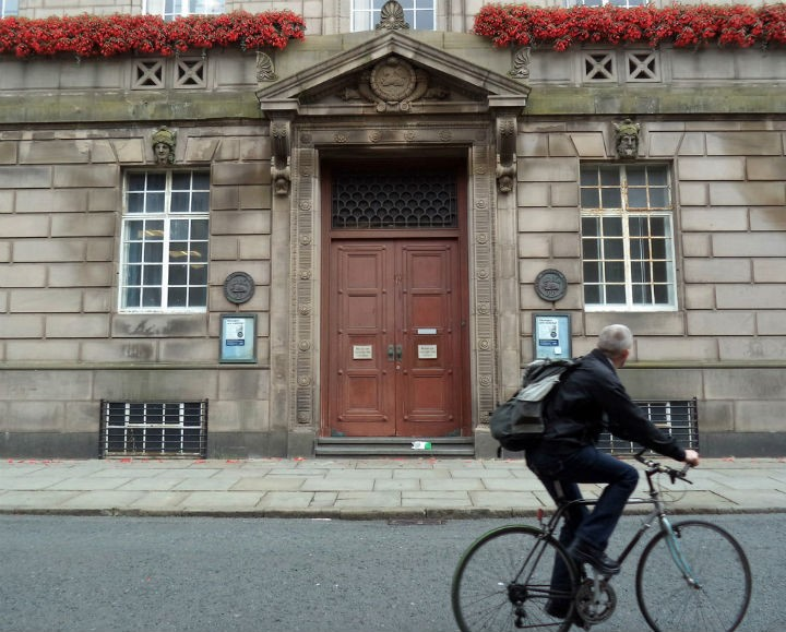 Back entrance to the Town Hall in Preston Pic: Tony Worrall