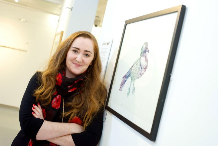 Kathryn Poole with her print