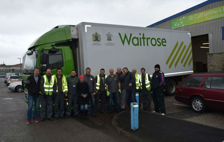 The lorry which came to the hospice's aid