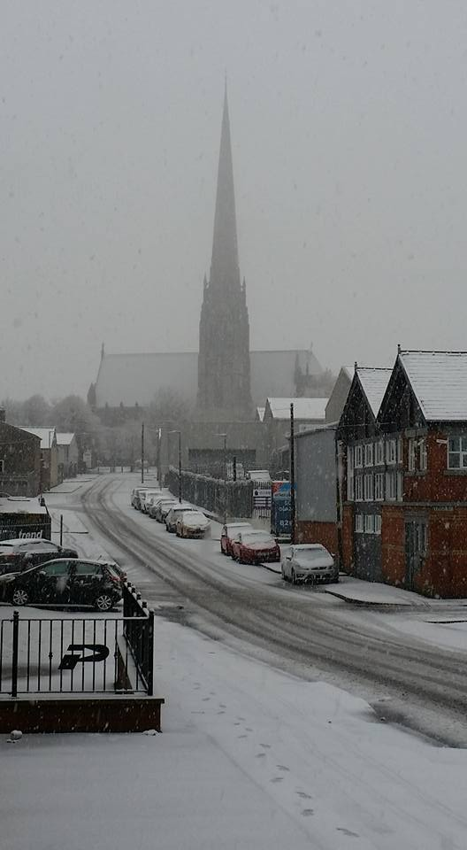 St Walburge's Church in the snow Pic: Andy Dawson