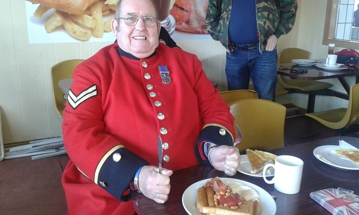 Steve Allen now attends many civic events in his Chelsea pensioner attire