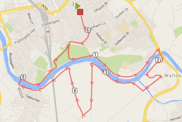Route for the 10k