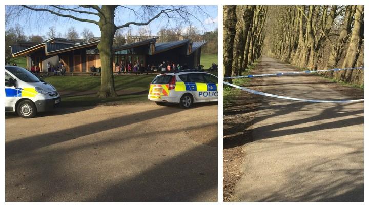 Police presence in Avenham Park Pic: Steven Saul