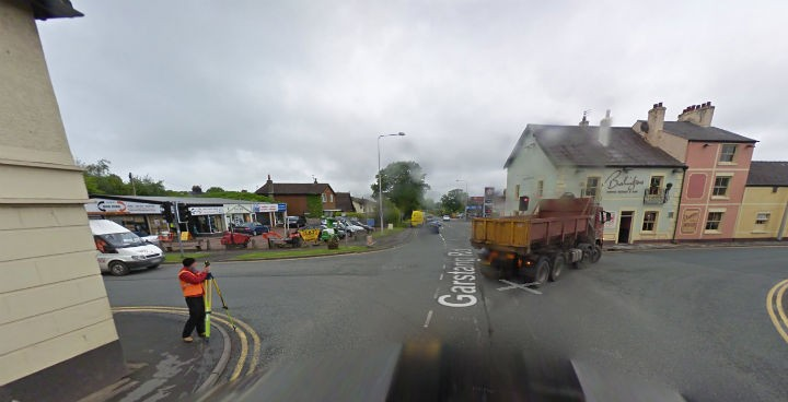 Broughton crossroads: How many hours of their lives have drivers spent here? Pic: Google