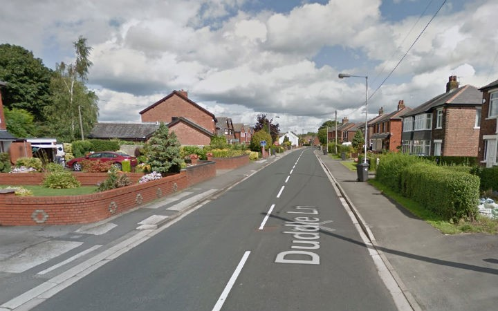 Duddle Lane was closed for a number of hours Pic: Google