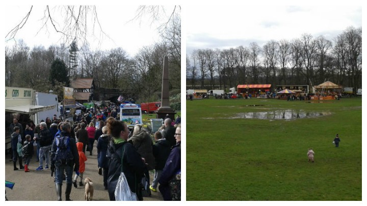 Many stalls were moved up towards Miller Park due to large puddles in Avenham Park