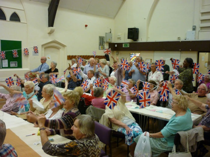 The 1940s night was a flag-waving success