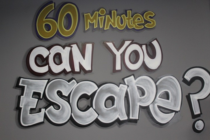 We can't show you inside the Escape Room, as it'd give all the fun away