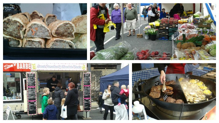 Some of the food on offer at the Lancashire Market