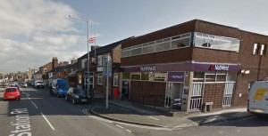 The NatWest cash point in Station Road was targeted