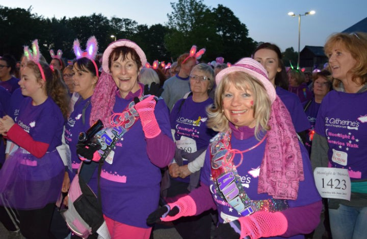Petra Grundy and Val Warry at the 2015 Moonlight and Memories Walk
