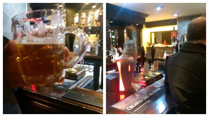 Real ale and the bar in the Plungington Hotel's lounge