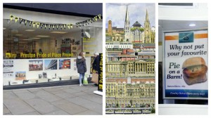 The Friargate gallery and two of the items now inside it