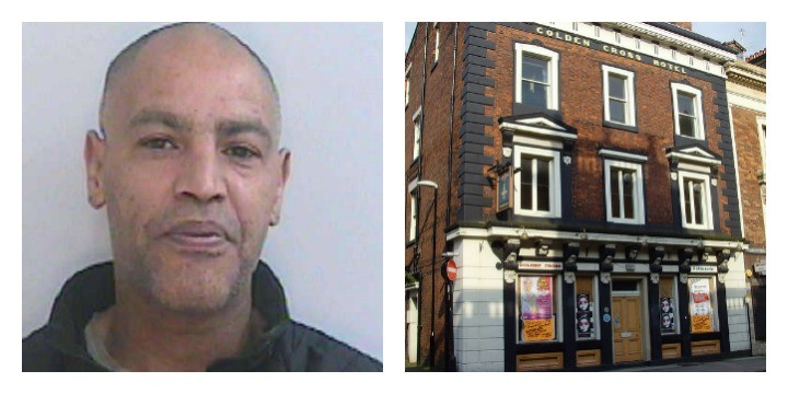 Warren Cross has been jailed after the incident at the Golden Cross pub (Pic of Golden Cross: Tony Worrall)