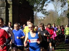 Parkrunners setting off in the Spring sunshine Pic: Robert Williams