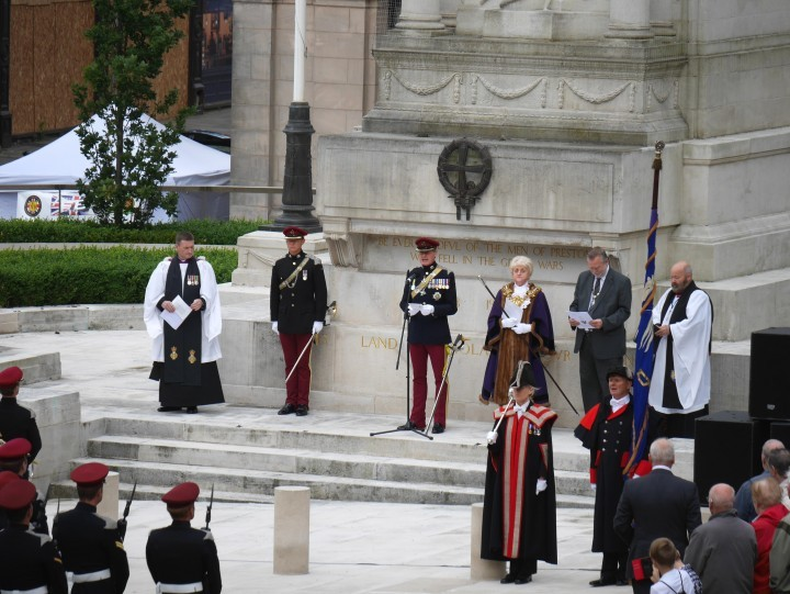 Armed forces on the Cenotaph last year Pic: Paul Swarbrick