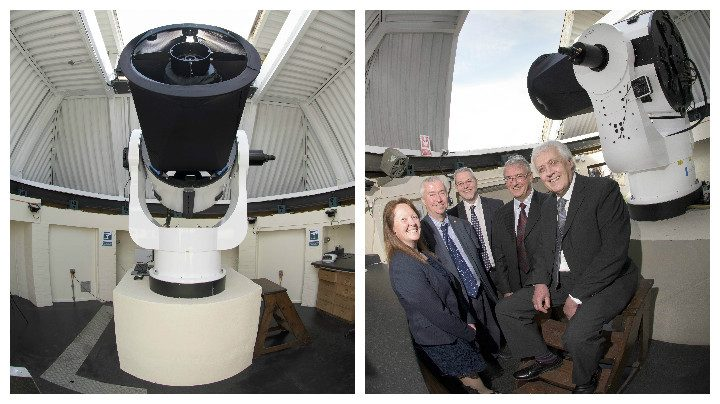 The Planewave telescope, and its unveling by university bosses