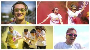 Fun in the sun for the UCLan colour run