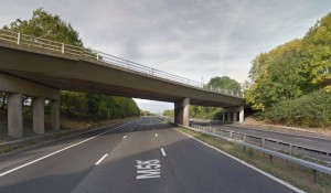 The man's body was found in the carriageway near the Higher Bartle bridge Pic: Google