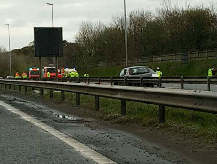 The M6 has been closed northbound near Junction 31A