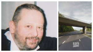 Mark Kay, and the motorway bridge where he was found