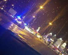 Police presence at Lea Gate Pic: Sean Cunningham