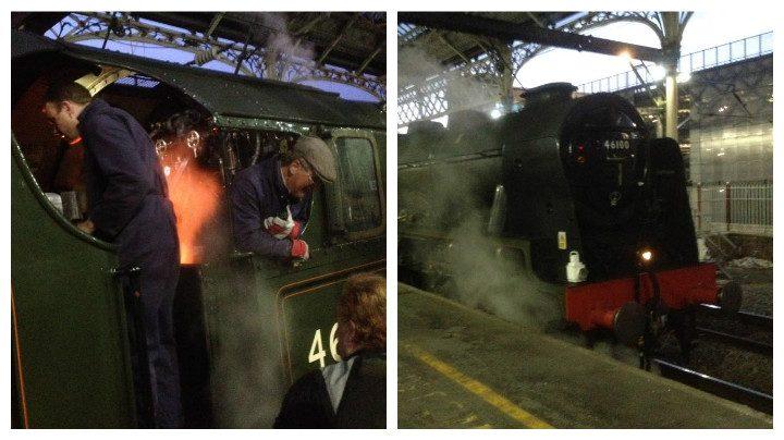 The Royal Scot at Preston Station Pic: Gary Brooks