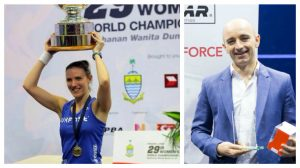 Laura Massaro has risen to become the world number one in squash, with her husband Danny supporting her every step of the way