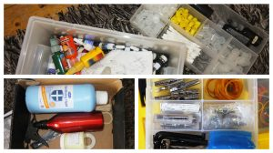 Some of the kit recovered from the Ribbleton man's home