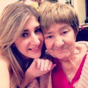 Samantha Walkden with her grandma Sandra