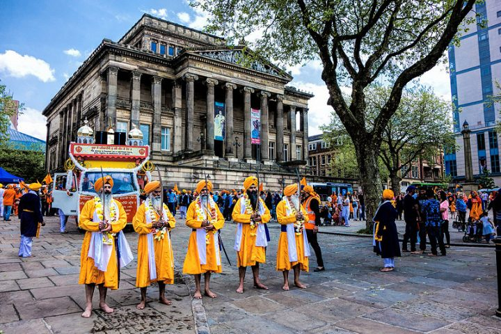 Preston's Sikh community on the Flag Market in 2014 Pic: Billy Matthews