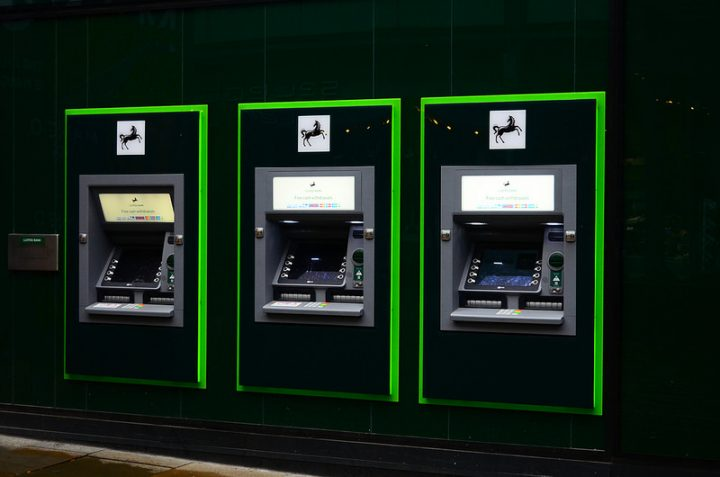 Lloyds cash machines Pic: Moneybright
