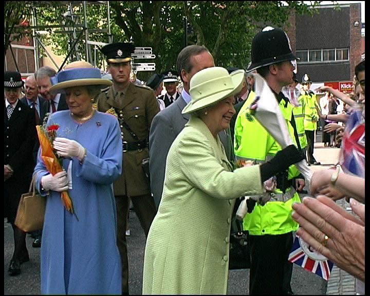 When The Queen visited Preston in 2002 to make it a city Pic: George D Thompson