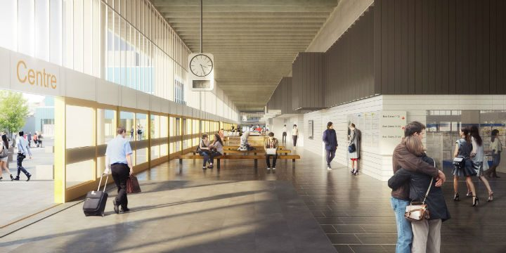 Inside the newly refurbished Bus Station