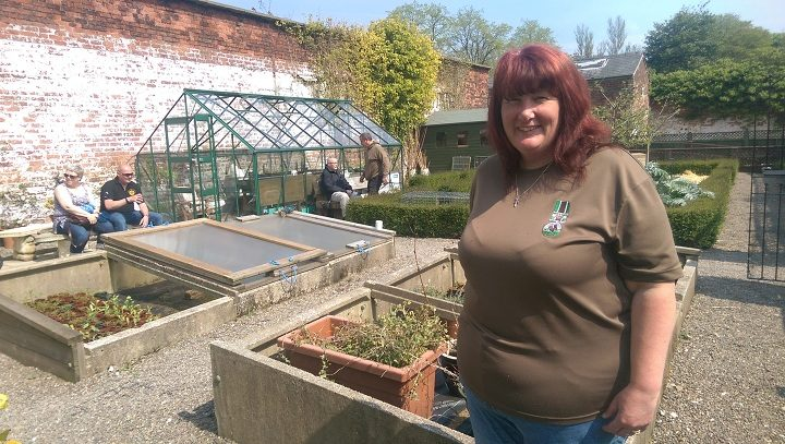 Donna Rowe-Green who showed us round the project