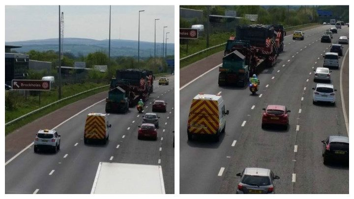 The heavy load joins the M6