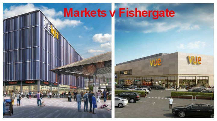Markets v Fishergate, not quite Batman v Superman...