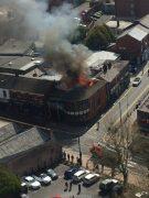 Huge fire at Sandos takeaway. Credit: Charlotte Bicks