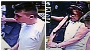 Police want to speak to the man and woman pictured