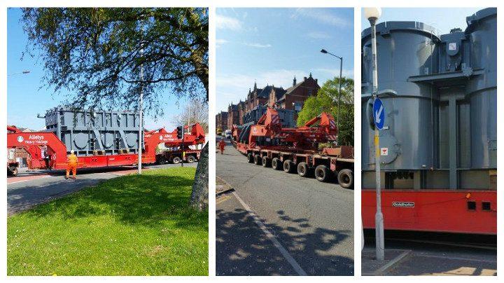 The transformer making its way through Preston Pics: Andy Speriett