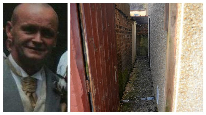 Steven Whitney, and the alleyway where he was found